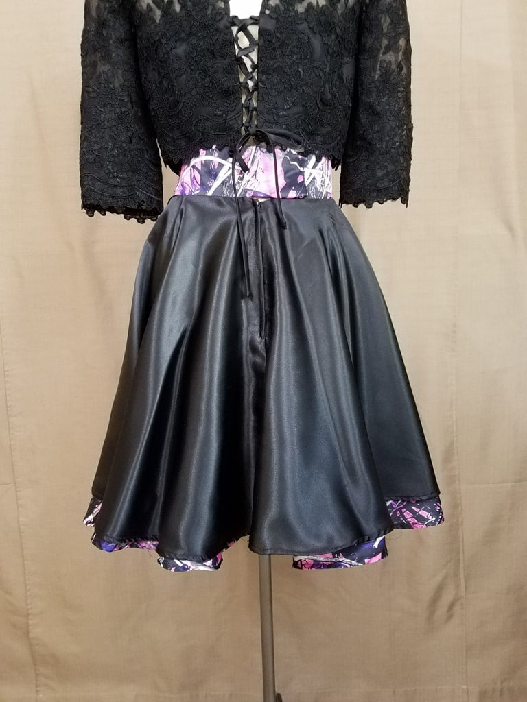 AE-B-3 21in Skater Skirt Back Camo Bridesmaid Skirt (image)
