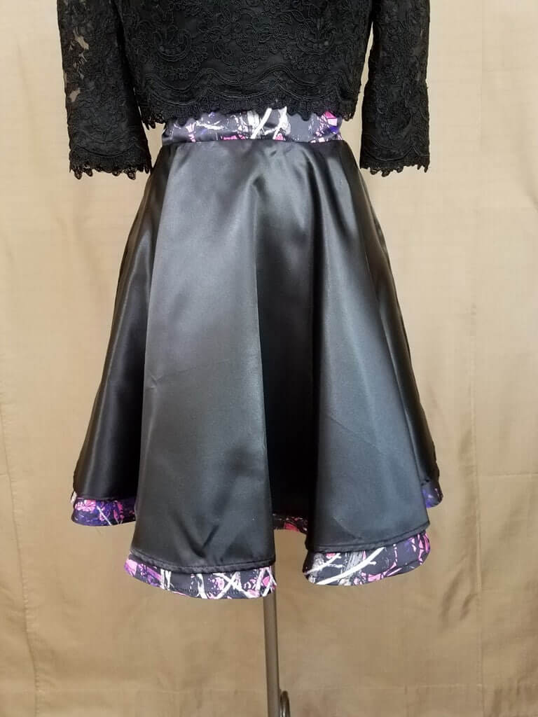 AE-B-3 21in Skater Skirt Front Camo Bridesmaid Skirt (image)